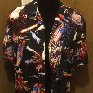 Short sleeve decorated 4th of July shirt